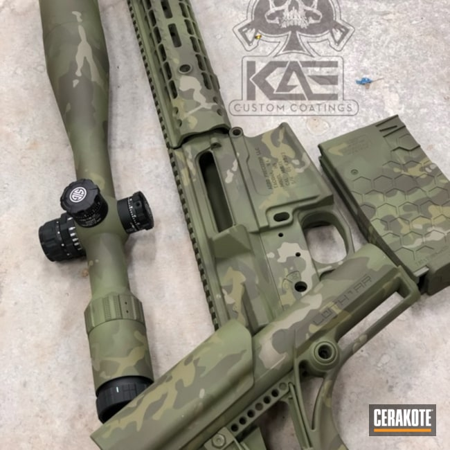 Long Range Aero Precision Rifle with a Cerakote MultiCam Finish