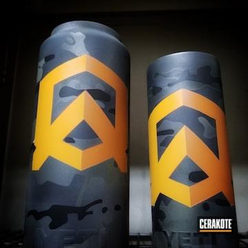 Cerakoted Yeti Cups With Custom Cerakote Multicam And Logo
