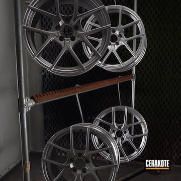Cerakoted Custom Wheels With A Cerakote Mc-161 Matte Ceramic Clear