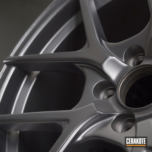 "Thumbnail image for project ""Custom Wheels with a Cerakote MC-161 Matte Ceramic Clear"""