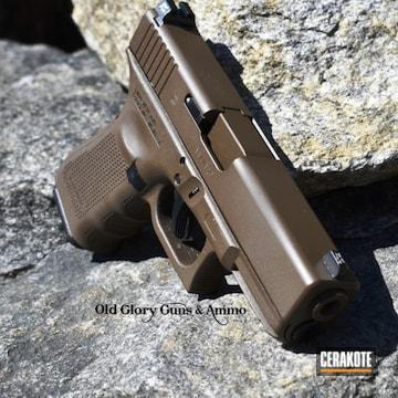 Cerakoted Glock 19 Done In H-226 Patriot Brown