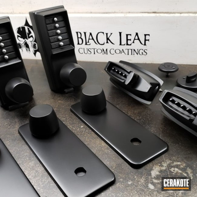 "Thumbnail image for project ""Custom Door Handles done in H-146 Graphite Black"""