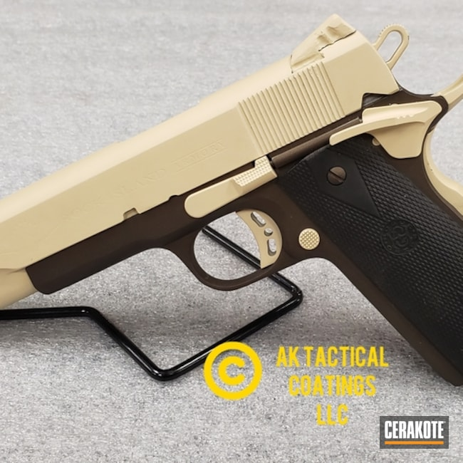 Big version of the 1st project picture. Rock Island Armory, 1911, Pistol, RIA, Light Sand H-142Q, Midnight Bronze H-294Q