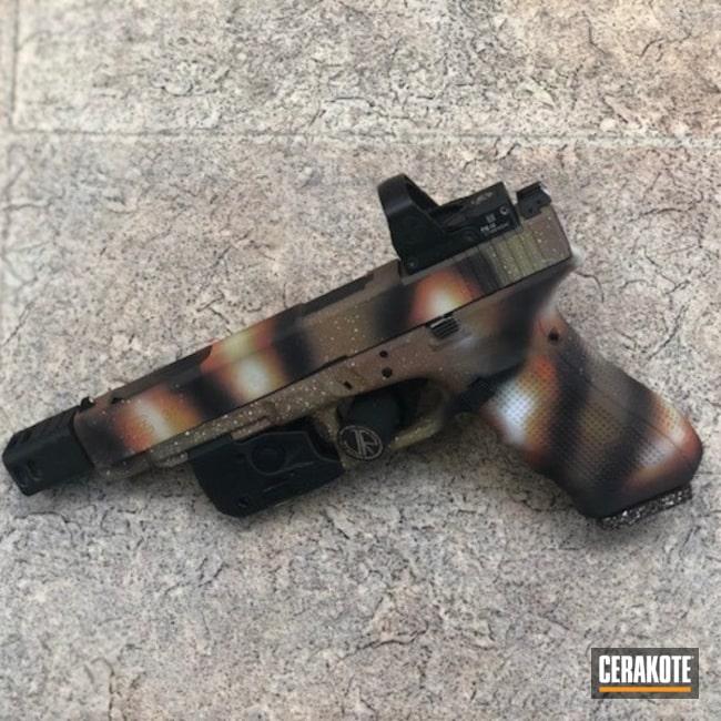 Cerakoted: Bright White H-140,Electric Yellow H-166,FIREHOUSE RED H-216,Glock 34,Graphite Black H-146,Pistol,Glock,Flat Dark Earth H-265,Hunter Orange H-128,Galaxy