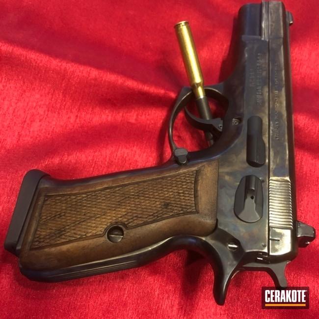 Cerakoted: tangfolio,Midnight E-110,Color Case Hardened,Case Hardened,MATTE CERAMIC CLEAR MC-161,Pistol