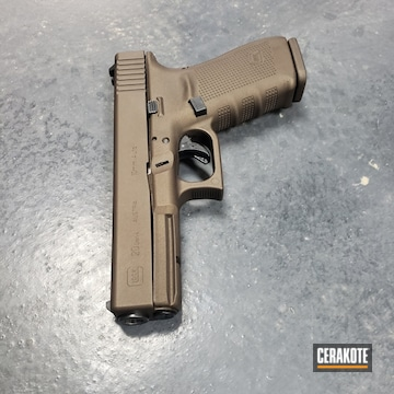 Cerakoted Glock 20 Handgun With Cerakote H-294 And H-293