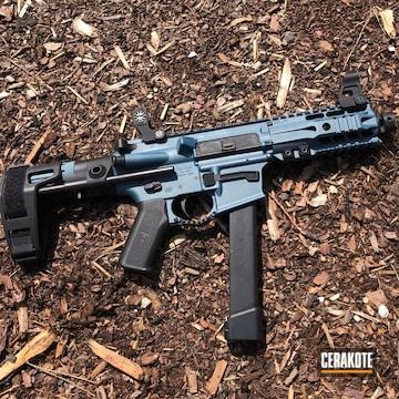 Cerakoted Ar Pistol Cerakoted In H-185 Blue Titanium