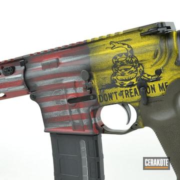 Cerakoted Gadsen / American Flag Themed Aero Precision Rifle Finish