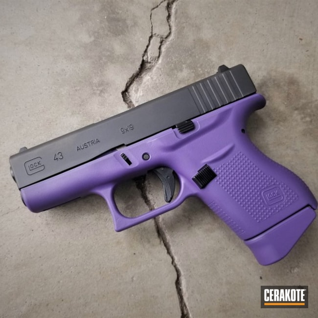 Glock43 With Bright Purple