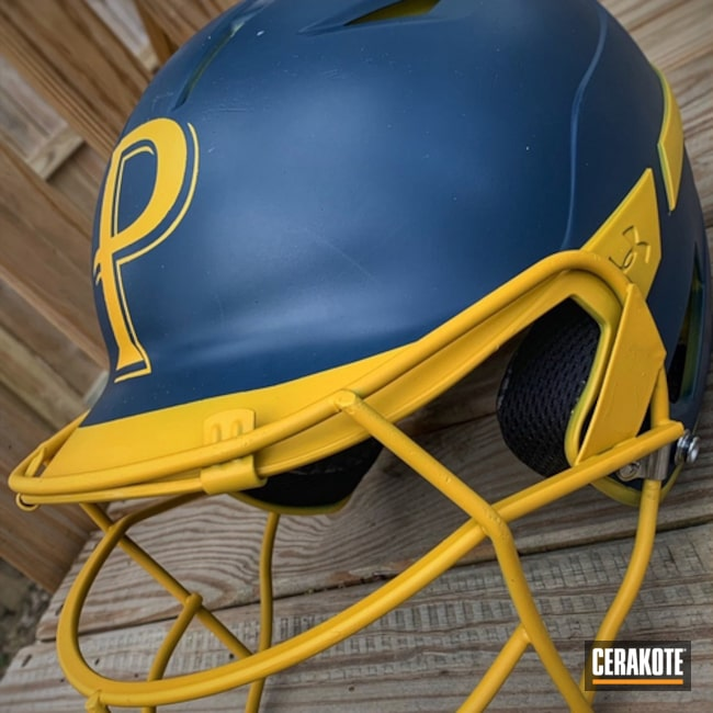 Custom Cerakoted Baseball Helmet