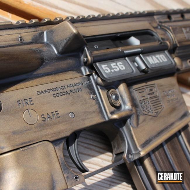 Cerakoted: AR Pistol,Diamondback Firearms,Graphite Black H-146,Distressed,Burnt Bronze H-148,AR-15