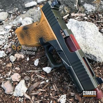 Cerakoted Polymer80 Handgun With Custom Boba Fett Themed Cerakote Finish