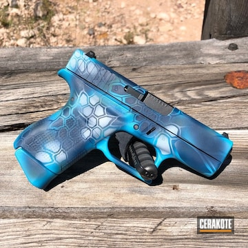 Cerakoted Glock 42 Handgun With Custom Blue Kryptek Finish