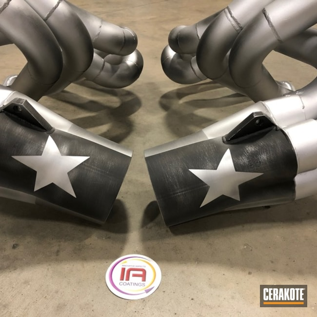 Cerakoted Exhaust with a Texas Flag Themed Finish