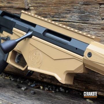 Cerakoted Ruger Bolt Action Rifle With Cerakote H-7504