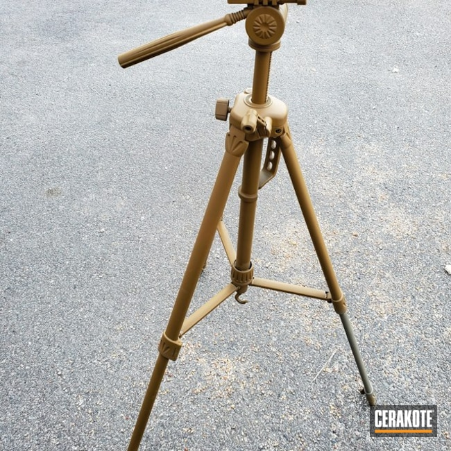 Camera Tripod Refinished with Cerakote C-30118 and C-231