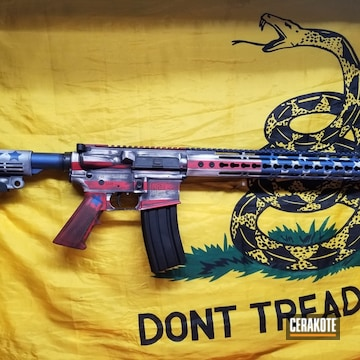 Cerakoted Diamondback Firearms Rifle With An American Flag Finish