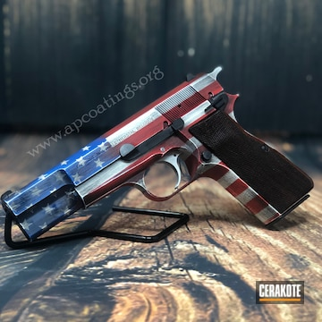 Cerakoted Fn Mfg. 1911 Handgun With A Cerakote American Flag Finish