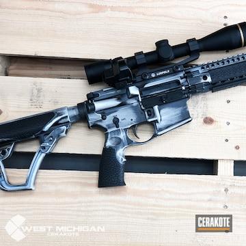 Cerakoted Cerakoted Daniel Defense Rifle Finished With Cerakote Graphite Black And A Custom Mixed White