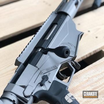 Cerakoted Ruger Precision 6.5 Creedmoor Rifle With A Cerakote Gun Metal Grey Finish