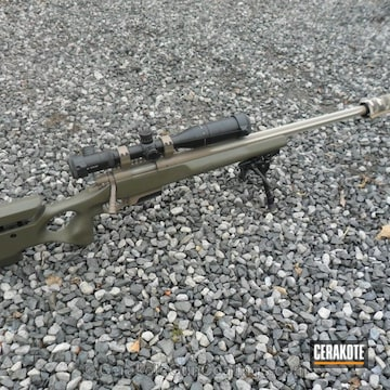 Cerakoted H-199 Desert Sand With H-267 Magpul Flat Dark Earth And C-232 Magpul O.d. Green