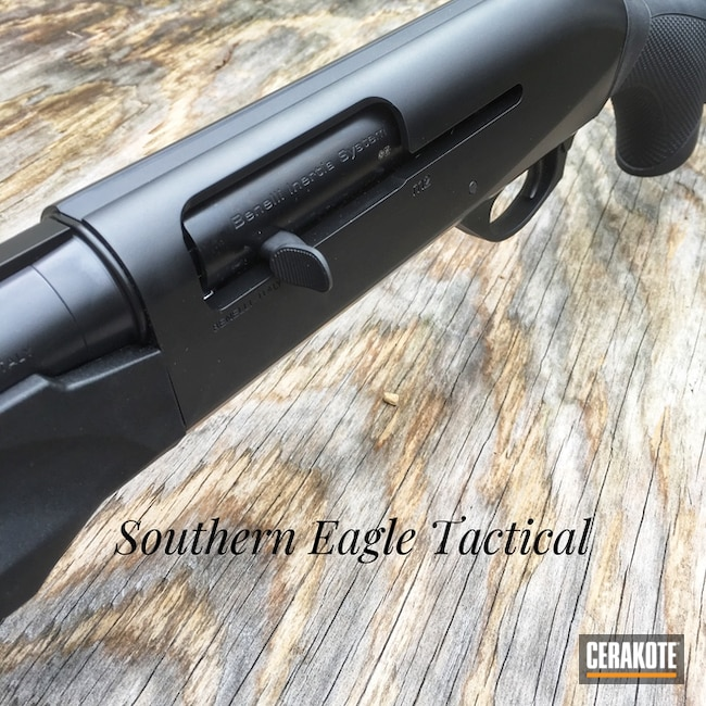 Benelli Shotgun with a Cerakote E-100 Blackout Finish