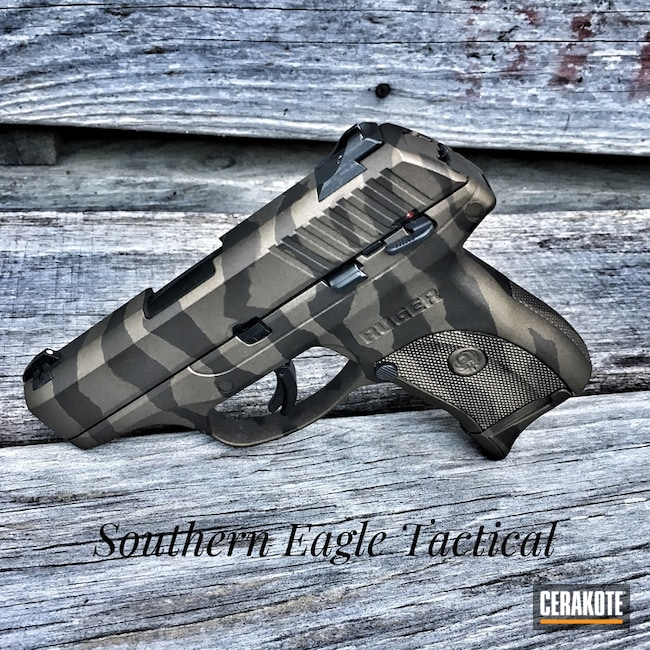 Cerakote Tiger Stripe Camo on this Ruger LC9 Handgun