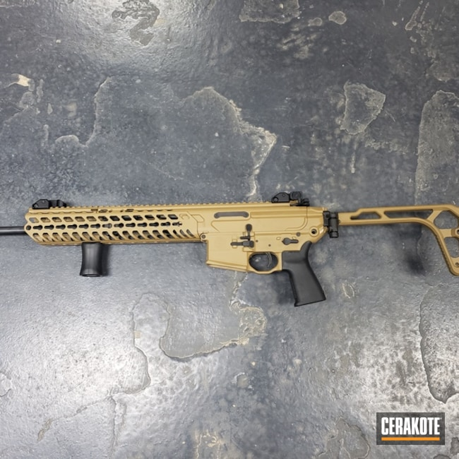 Sig Sauer MCX Rifle finished with Cerakote H-187