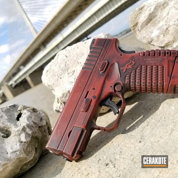 Cerakoted Distressed Springfield Xds With Cerakote H-146 And H-221