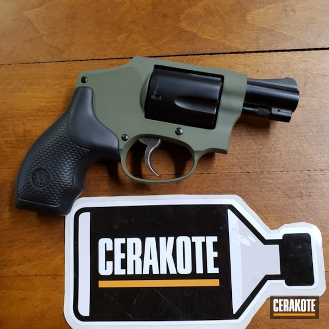 Two Toned Revolver using Cerakote H-248