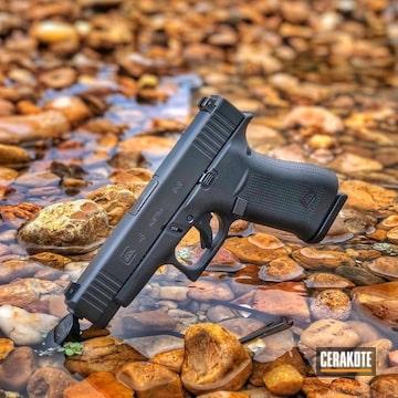 Cerakoted Glock 48 Handgun Finished With E-100 Blackout