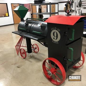 Cerakoted Custom Bbq Smoker Finished With Cerakote C-7600, C-7900, C-8100 And Mc-156