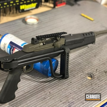 Cerakoted Ruger Mini-14 Rifle In A Two Tone Cerakote Finish