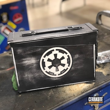 Cerakoted Ammo Can With A Cerakote Distressed Star Wars Themed Finish