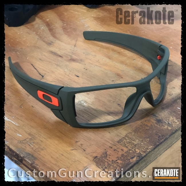 Oakley Sunglasses Frame Cerakoted with H-189 and H-128