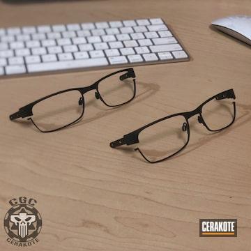 Cerakoted Oakley Frames Cerakoted With E-100 Blackout