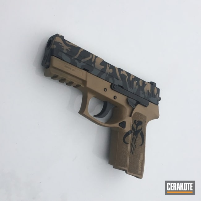Custom Star Wars Themed Cerakote Finish on this Sig Sauer Handgun