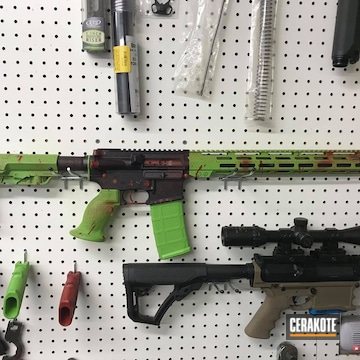 Cerakoted Zombie Themed Tactical Rifle