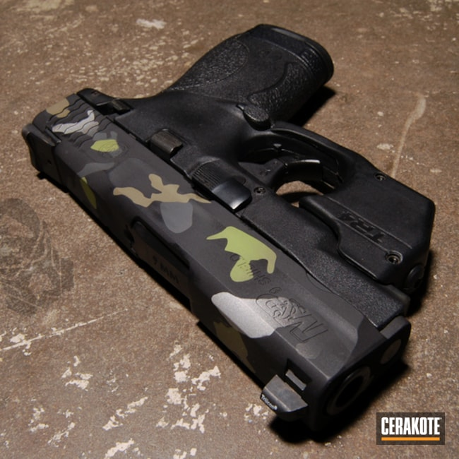 Custom Cerakote Camo with H-146, H-204 and H-234