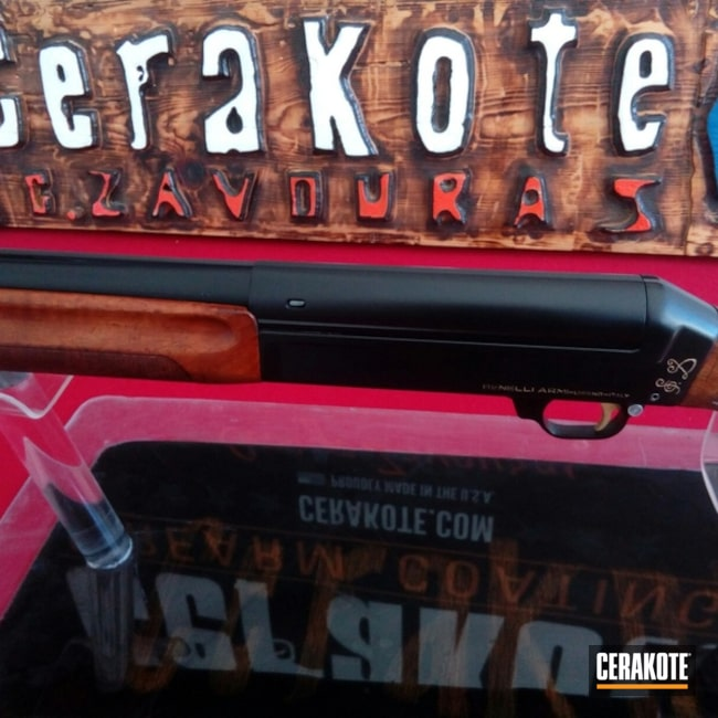 Benelli Shotgun done in Cerakote H-146 and H-122