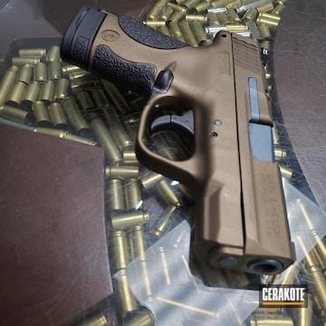Cerakoted Smith & Wesson M&p Handgun Cerakoted In H-148, H-190 And H-185