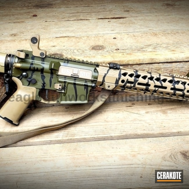 "Thumbnail image for project ""AR-15 Rifle with a Custom Cerakote Tiger Stripe Camo Finish"""