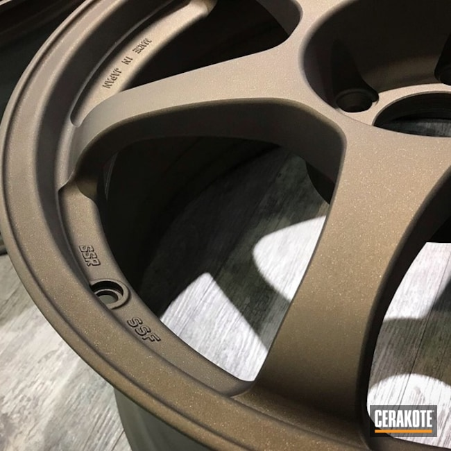 SSR Wheels Refinished in Mixed Bronze Ceramic Coating