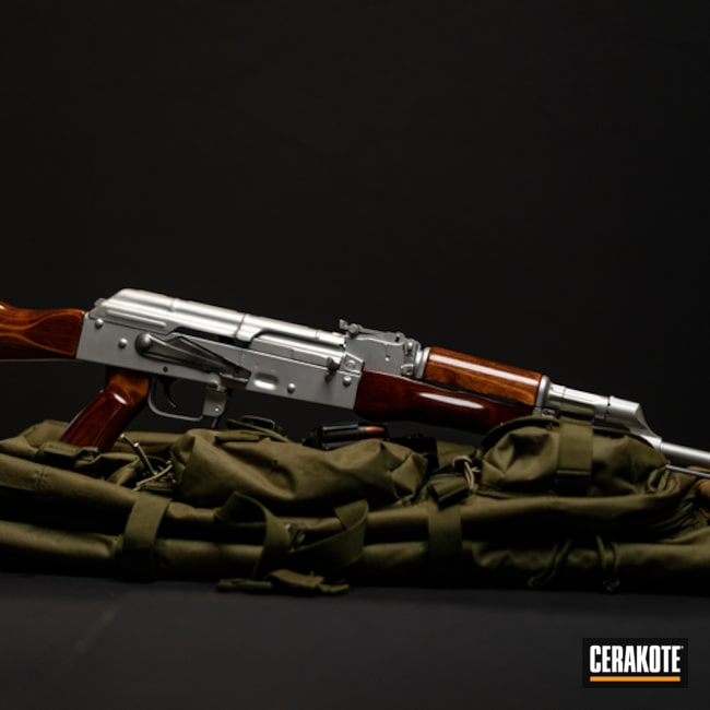 Cerakoted: Shimmer Aluminum H-158,Gloss Black H-109,AK Rifle