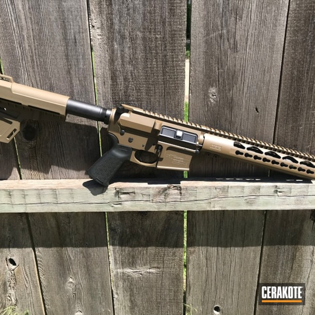 "Thumbnail image for project ""Cerakote Graphite Black and Springfield FDE finish on this Aero Precision AR Pistol"""