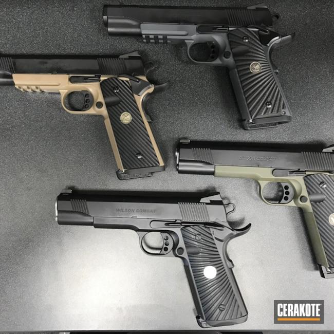 Cerakoted: Custom Paint,MAGPUL® FLAT DARK EARTH H-267,Graphite Black H-146,1911,MAGPUL® O.D. GREEN H-232,Wilson Combat,Custom Pistol,Pistol Frame,Pistols