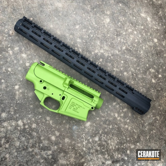 Smaller version of the 1st project picture. Aero Precision, Handguard, Zombie Green H-168Q, Combat Grey H-130Q, Upper / Lower