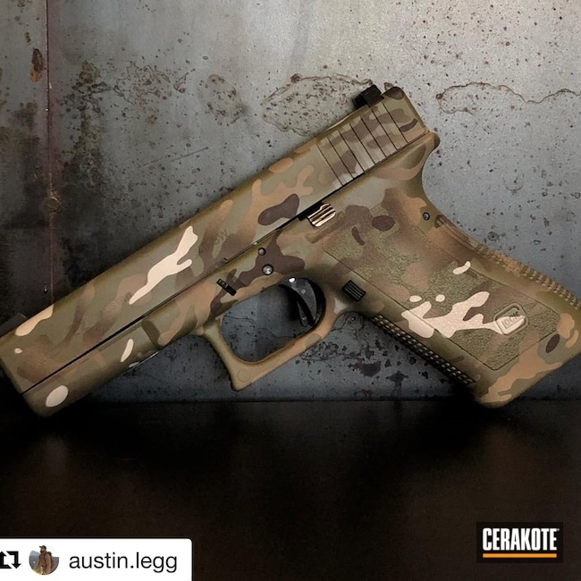 Mobile-friendly version of the 1st project picture. Glock, MultiCam, Pistol, Glock 22, MagPul Flat Dark Earth H-267Q, Coyote Tan H-235Q, Stormtrooper White H-297Q