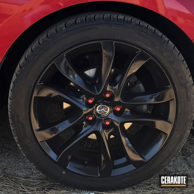 Cerakoted Wheels and Lug Nuts with Cerakote E-100 and MC-160
