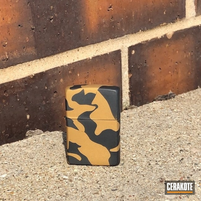 Cerakoted: Sniper Grey H-234,Zippo Lighter,More Than Guns,Gold H-122